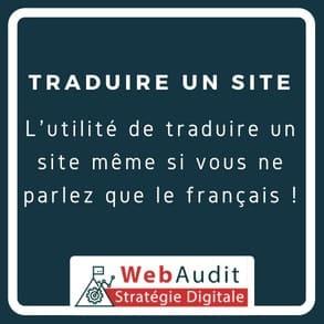 Blog Webaudit - traduire un site internet et dans quelle langue