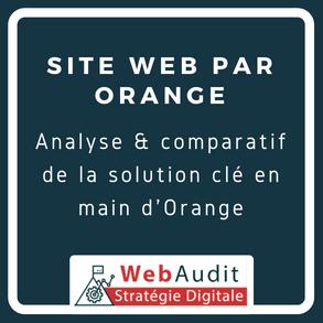 Analyse offre site web clé en main par Orange